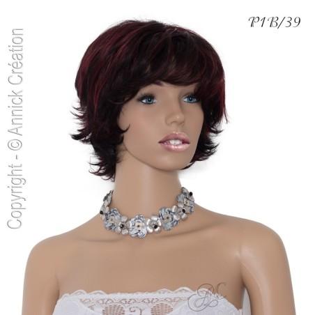 Perruque courte semi naturelle, un style féminin